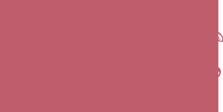 Coccolato logo rosa trasparente